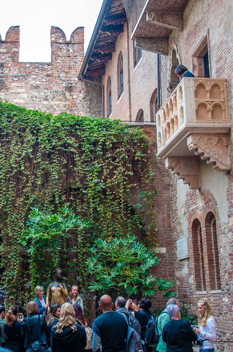 The courtyard of Juliet's House - Verona, Italy - rossiwrites.com