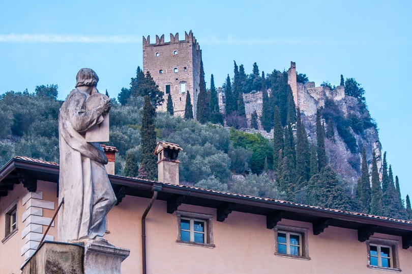 Arco Castle seen from the historic centre of the town of Arco - Trentino, Italy - rossiwrites.com