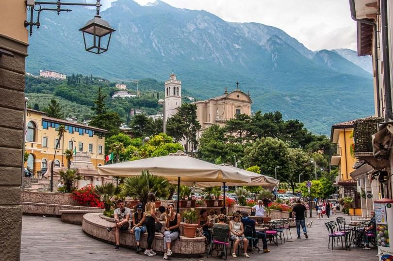 A small square in the historic centre - Malcesine, Italy - rossiwrites.com