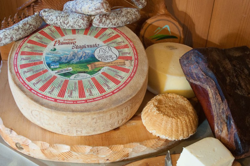 Local cheeses and cured meats - Trentino, Italy - rossiwrites.com