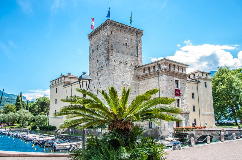 The medieval fortress Rocca di Riva in the town of Riva del Garda - Lake Garda, Italy - rossiwrites.com