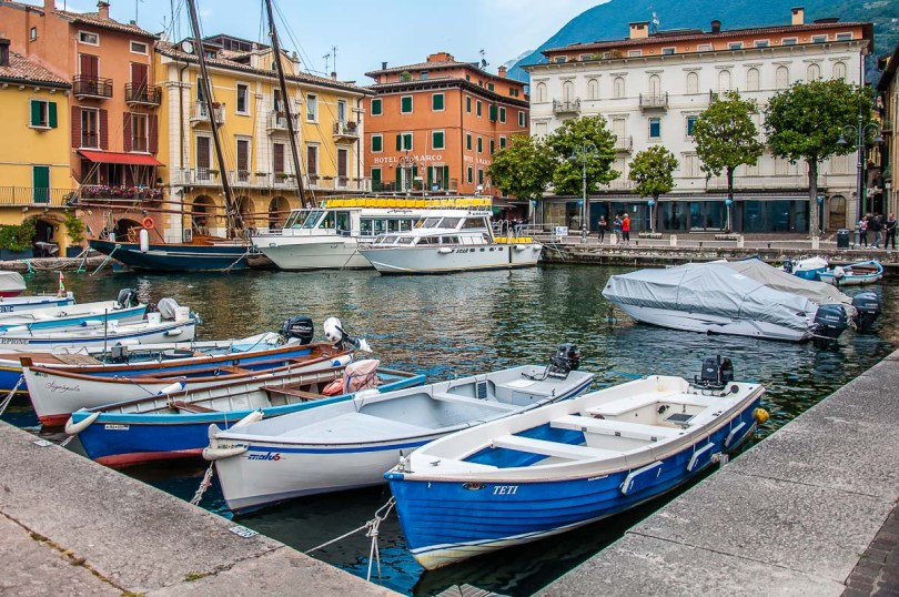 The harbour in the historic centre - Malcesine, Italy - rossiwrites.com