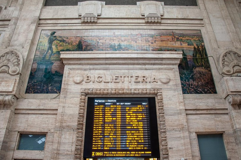 The interiors of Milano Centrale train station - Milan, Italy - rossiwrites.com