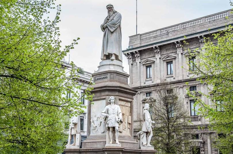 The monument of Leonardo da Vinci - Milan, Italy - rossiwrites.com