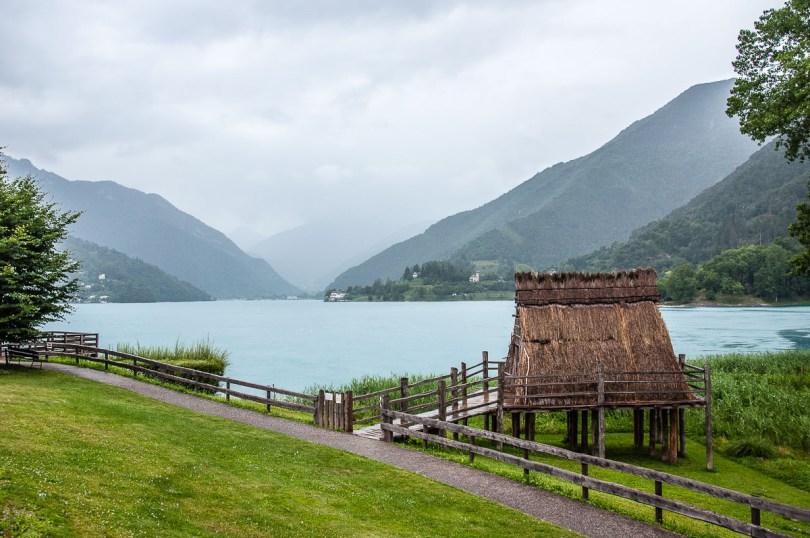 Reconstruction of a prehistoric stilt house on Lake Ledro - Trentino, Italy - rossiwrites.com