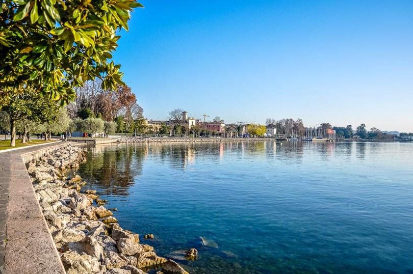 The Lake Garda promenade leading to the town of Bardolino - Veneto, Italy - rossiwrites.com
