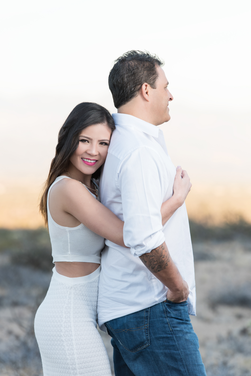 engagement photos desert