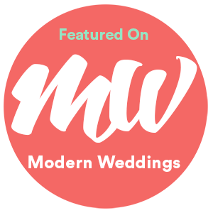 featured on modern weddings