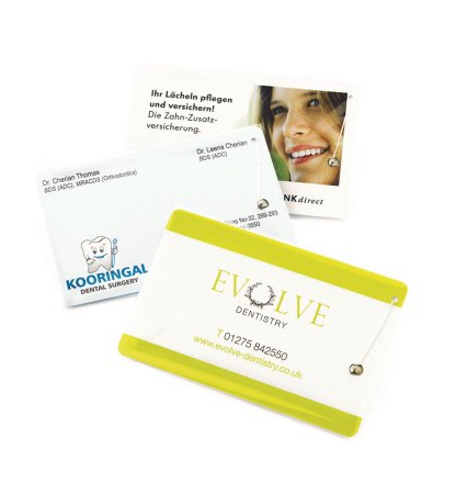 Dental Floss Credit Card Printed 1-Colour 2 Side