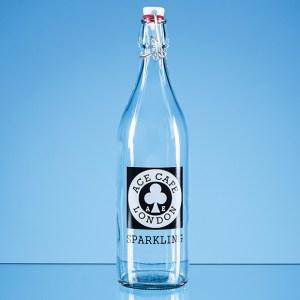 1ltr Round White Cap Swing Top Bottle