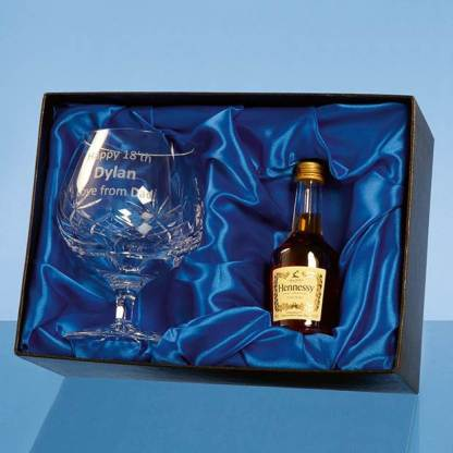 Blenheim Brandy Gift Set with a 5cl Miniature Bottle of Brandy