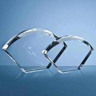21.5cm Optical Crystal Bevelled Arch Award