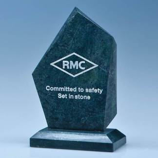 15cm Green Marble Facetted Ice Peak Award
