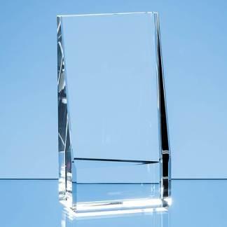 16.5cm Optical Crystal Vertical Slope Award