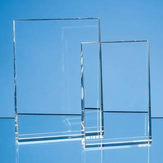 15cm Optical Crystal Vertical Wedge Award
