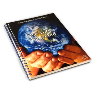 Green & Good A4 Wirebound Full colour Notebook - Recycled