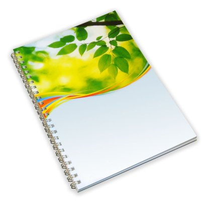 Green & Good A5 Wirebound Full colour Notebook - Recycled