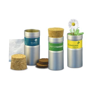 Green & Good Desktop Garden Tube - Recycled Aluminium