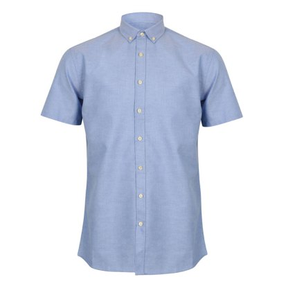 Modern Short Sleeve Regular Fit Oxford Shirt