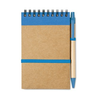 A6 Pocket size notebook with recycled ball pen