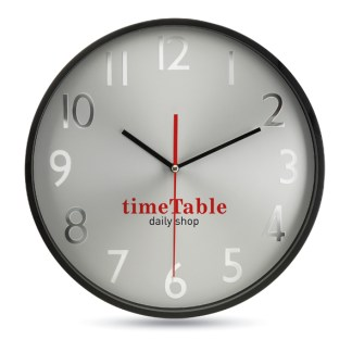 Wall clock with silver background