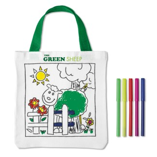 Tote bag with 5 colouring pens