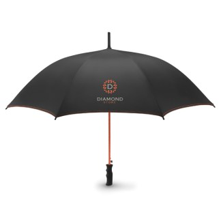"23""auto open contrast trim storm umbrella"