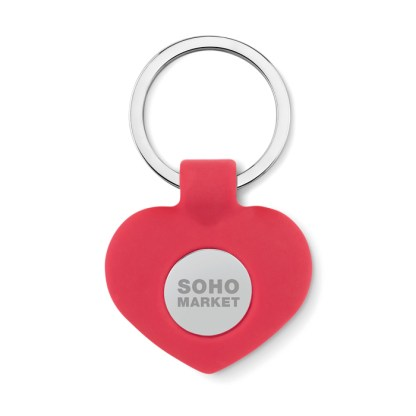 Silicone key ring with token