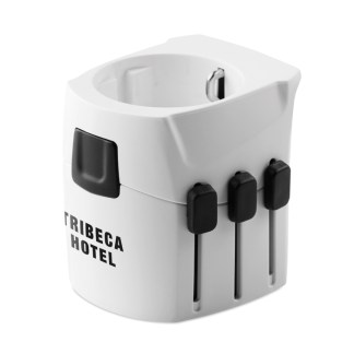 3-pole travel plug for travellers from Europe (Schuko standard)
