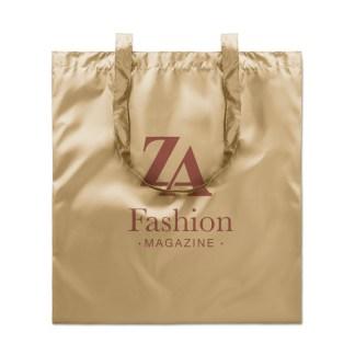 Shopping bag shiny coating