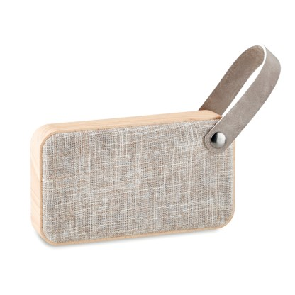 Bluetooth speaker with MDF fabric