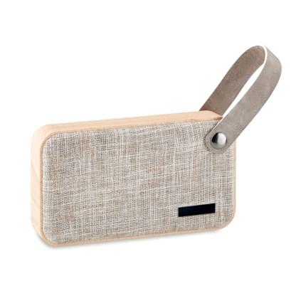 Bluetooth speaker with MDF fabric