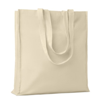 Cotton shopping bag with gusset