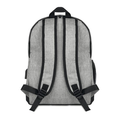 600D 2 tone polyester backpack