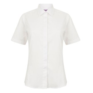 Ladies Short Sleeve Pinpoint Oxford Shirt