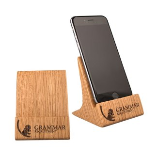 Real Wood Phone Stand, Upright, Wide
