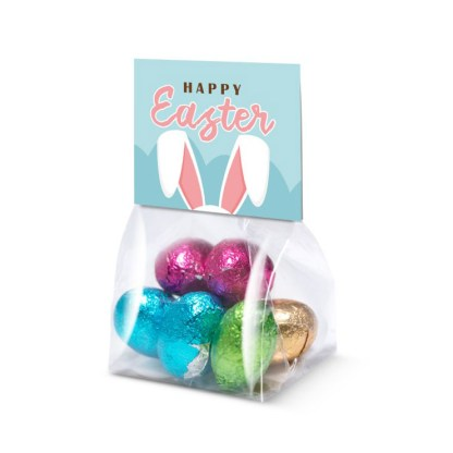 Eco Range – Block Bag - Mini - Foiled Chocolate Eggs