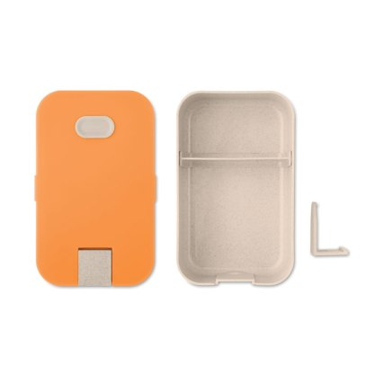 Wheat straw fibre lunchbox with phone stand
