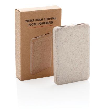 Wheat Straw 5.000 mAh Pocket Powerbank