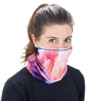 Recycled multiscarf with inside mask pocket