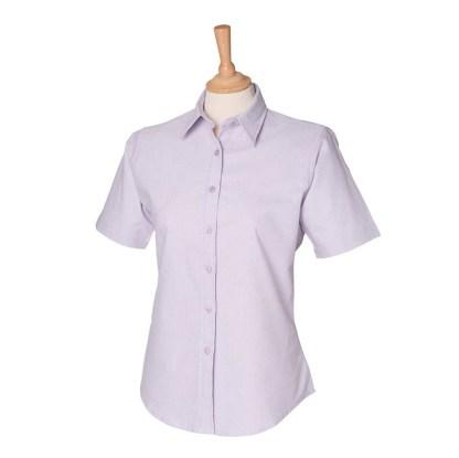 Ladies Short Sleeve Classic Oxford Shirt