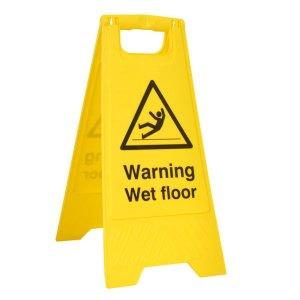 Warning Wet floor A-Board