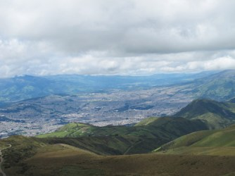 View of Quito from the slope of Volcan Pichincha.