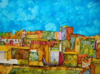 In Ouarzazate. Inks and Dyes. 38 x 28 cm. POA