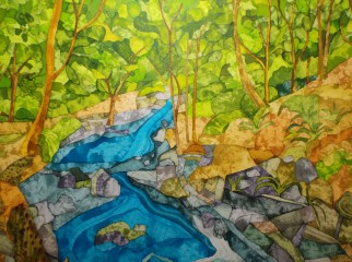 Digley Downstream. Inks and Dyes. 38 x 28 cm. SOLD