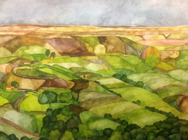 Above Marsden. 56 x 38 cm Inks on Canson Extra Fine paper 300 gsm Available from Hope Art Gallery