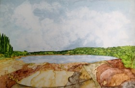 Digley Water. 56 x 38 cm Inks on Moulin du Roy paper. POA