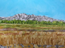 Draa Valley Morocco 38 x 28 cm Inks on Moulin du Roy Torchon paper. POA