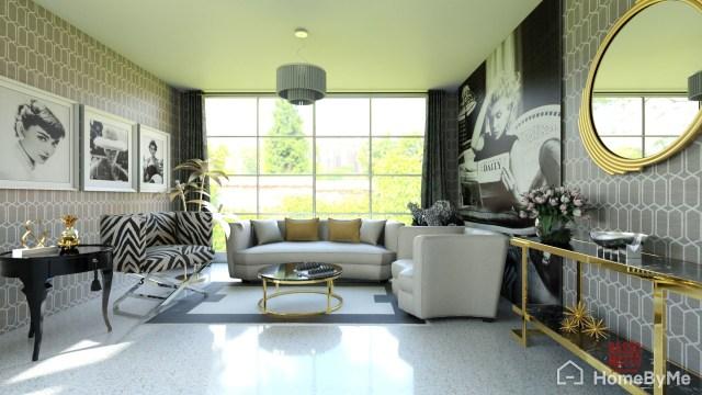 Hollywood style livingroom