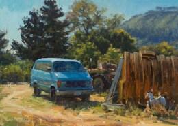 Artwork Photography of Carmel Blue Van 12x16
